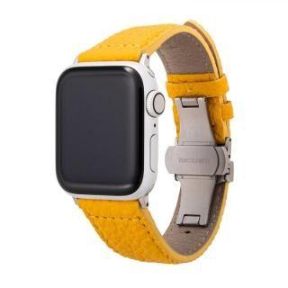 GRAMAS German Shrunken-calf Watchband for Apple Watch 40/38mm Yellow