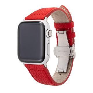 GRAMAS German Shrunken-calf Watchband for Apple Watch 40/38mm Red