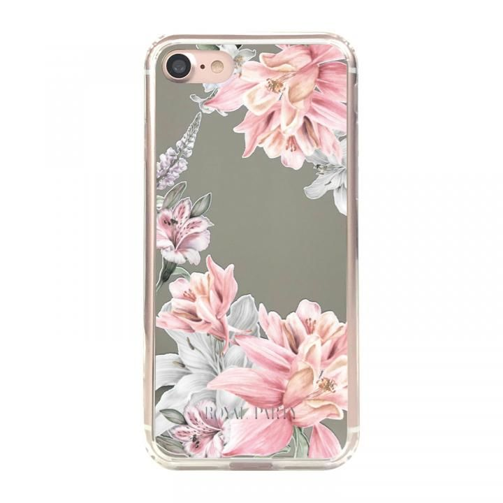 iPhone8/7/6s/6 ケース ROYALPARTY ミラー背面ケース フラワー/SILVER iPhone 8/7/6s/6_0