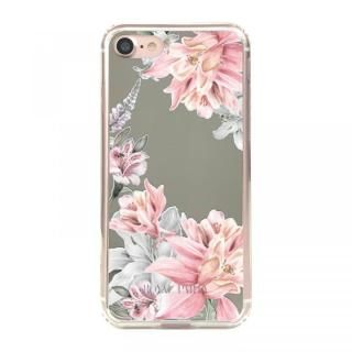 iPhone8/7/6s/6 ケース ROYALPARTY ミラー背面ケース フラワー/SILVER iPhone 8/7/6s/6