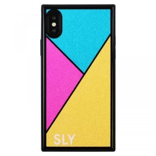 iPhone XS/X ケース SLY ラメガラス背面ケース ゴールド iPhone XS/X