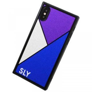 iPhone XS Max ケース SLY ラメガラス背面ケース ブルー iPhone XS Max
