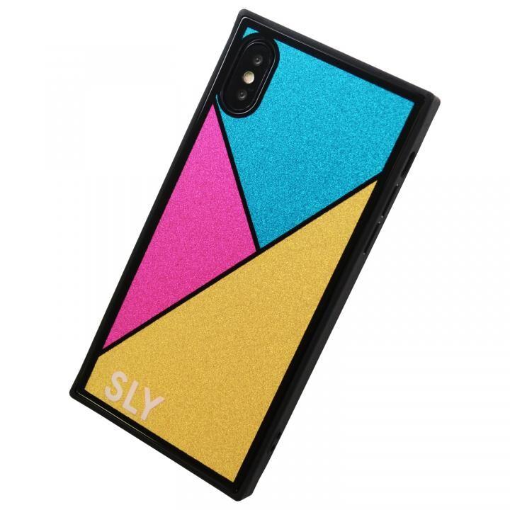 iPhone XS Max ケース SLY ラメガラス背面ケース ゴールド iPhone XS Max_0