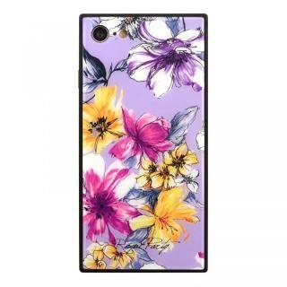 iPhone SE 第2世代 ケース ROYALPARTY 背面ガラス アーバンフラワー アーバンフラワー/LAVENDER iPhone SE 第2世代/8/7