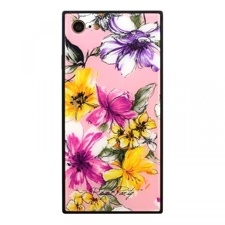 iPhone8/7 ケース ROYALPARTY 背面ガラス アーバンフラワー アーバンフラワー/PINK iPhone SE 第2世代/8/7_0