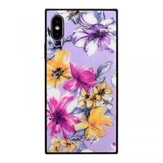iPhone XS/X ケース ROYALPARTY 背面ガラス アーバンフラワー アーバンフラワー/LAVENDER iPhone XS/X【4月上旬】