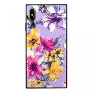 iPhone XS Max ケース ROYALPARTY 背面ガラス アーバンフラワー アーバンフラワー/LAVENDER iPhone XS Max