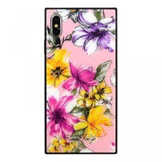 iPhone XS Max ケース ROYALPARTY 背面ガラス アーバンフラワー アーバンフラワー/PINK iPhone XS Max