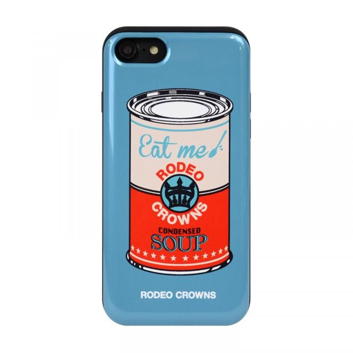 iPhone8/7 ケース RODEO CROWNS カード収納型背面ケース スープ/BLUE iPhone 8/7_0