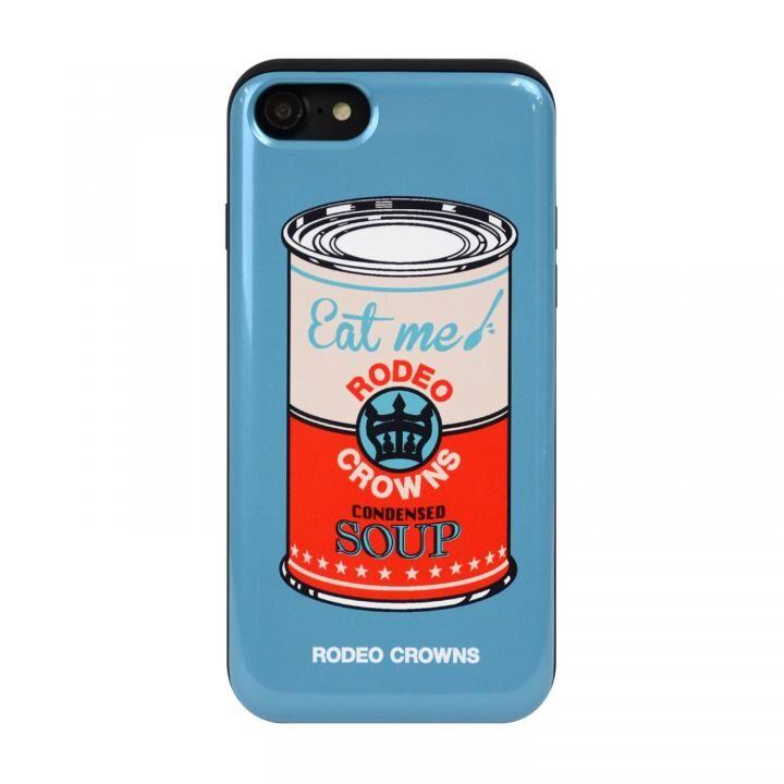 iPhone8/7 ケース RODEO CROWNS カード収納型背面ケース スープ/BLUE iPhone 8/7【4月下旬】_0
