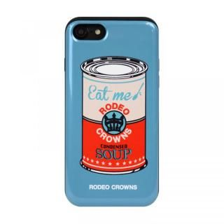 iPhone SE 第2世代 ケース RODEO CROWNS カード収納型背面ケース スープ/BLUE iPhone SE 第2世代/8/7