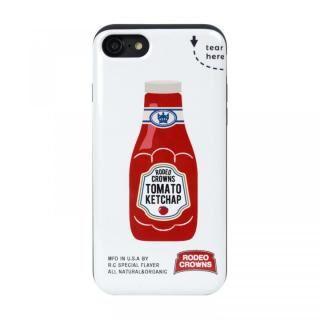 iPhone SE 第2世代 ケース RODEO CROWNS カード収納型背面ケース ケチャップ iPhone SE 第2世代/8/7