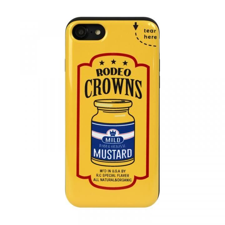 iPhone8/7 ケース RODEO CROWNS カード収納型背面ケース マスタード iPhone SE 第2世代/8/7_0