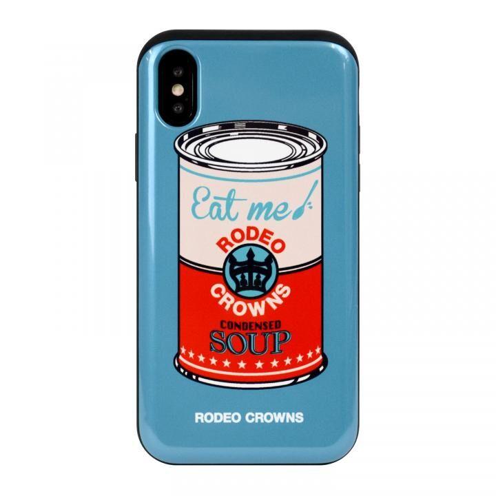 iPhone XS/X ケース RODEO CROWNS カード収納型背面ケース スープ/BLUE iPhone XS/X_0