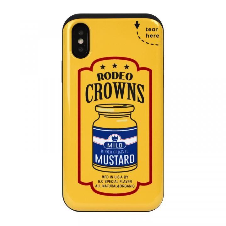 iPhone XS/X ケース RODEO CROWNS カード収納型背面ケース マスタード iPhone XS/X_0