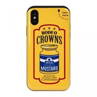 iPhone XS/X ケース RODEO CROWNS カード収納型背面ケース マスタード iPhone XS/X