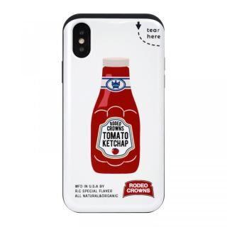 iPhone XS/X ケース RODEO CROWNS カード収納型背面ケース ケチャップ iPhone XS/X