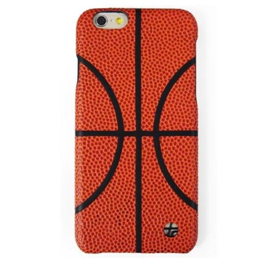 【iPhone6ケース】トルコ製本革張りハードケース バスケットボール iPhone 6_0
