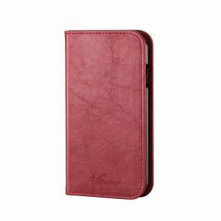 手帳型ソフトレザーケース レッド iPhone 6