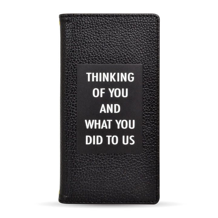 rienda 手帳ケース THINKING ブラック iPhone 12 mini_0