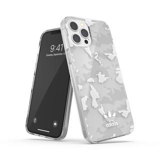 iPhone 12 Pro Max (6.7インチ) ケース adidas originals Snap Case Camo AOP SS21 Clear/White iPhone 12 Pro Max