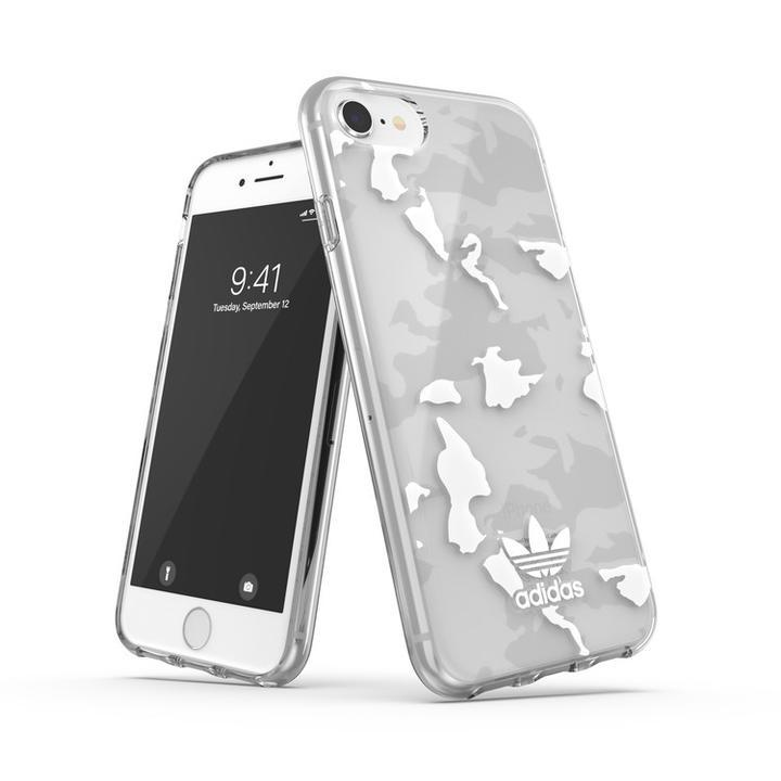 iPhone8/7 ケース adidas originals Snap Case Camo AOP SS21 Clear/White iPhone SE 2/8/7/6s/6_0
