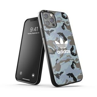 iPhone 12 / iPhone 12 Pro (6.1インチ) ケース adidas originals Snap Case Camo AOP SS21 Hazy Emeralds/Blue oxides iPhone 12/12 Pro