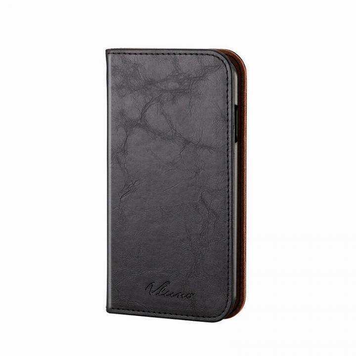 【iPhone6ケース】手帳型ソフトレザーケース ブラック iPhone 6_0