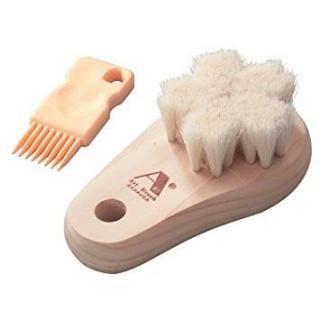 ヤギ毛の洗顔ブラシ さくら