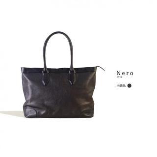 イタリアンレザー トートバッグ MLC Leather Tote ブラック(ネロ)