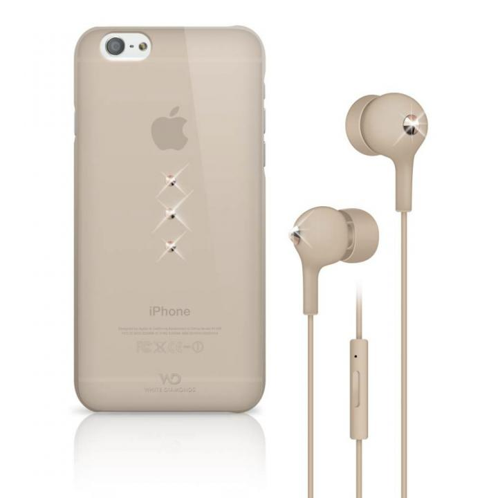 Crystal Earphone Bundle ローズゴールド iPhone 6 ケース