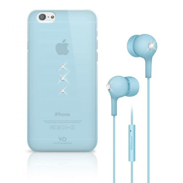 Crystal Earphone Bundle ライトブルー iPhone 6 ケース