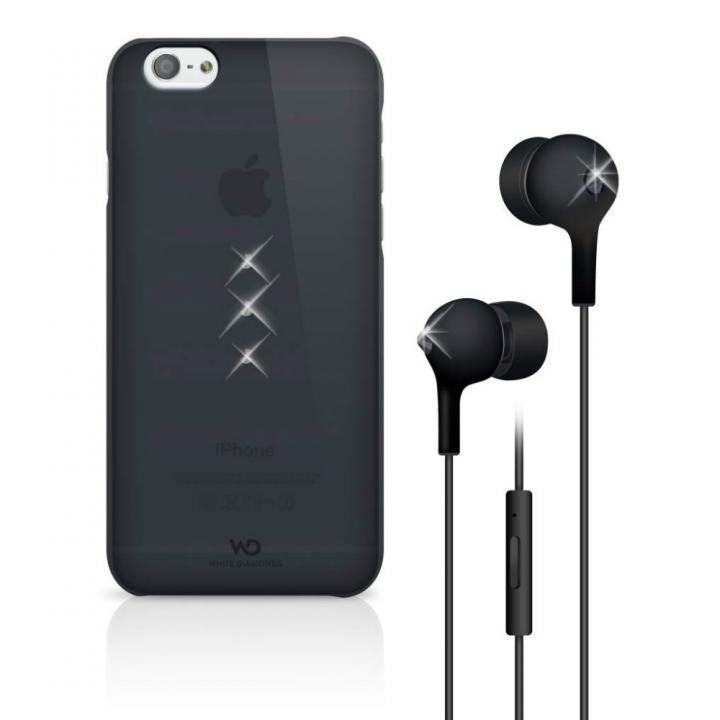 【iPhone6ケース】Crystal Earphone Bundle ブラック iPhone 6 ケース_0