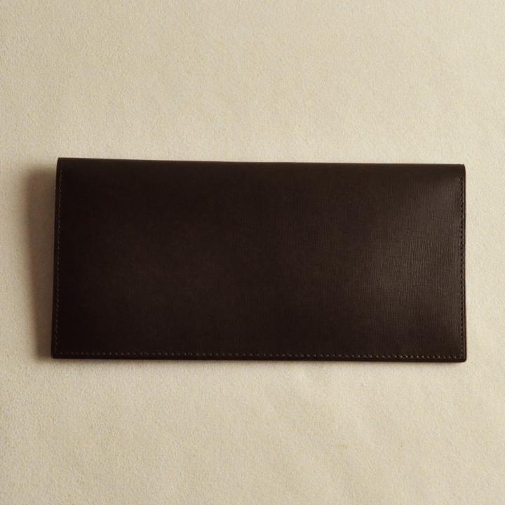 カーフレザー 長財布 チョコ_0