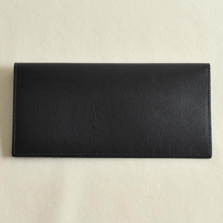 カーフレザー 長財布 ブラック
