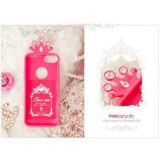 ティアラケース ピンク iPhone SE/5s/5ケース