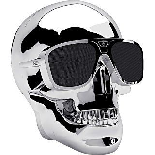 Music Life AEROSKULL HD+ Bluetoothスピーカー Chrome Silver_0