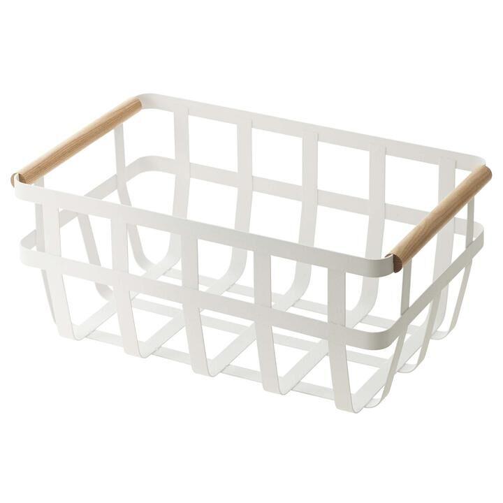 山崎実業 tosca(トスカ) 収納バスケット トスカ ホワイト_0