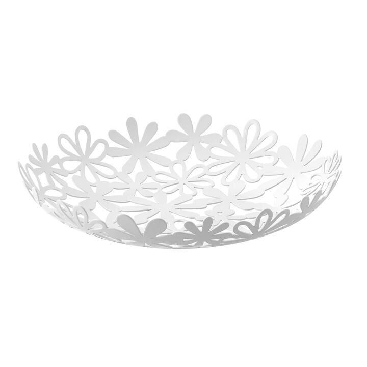 山崎実業 フラワーバスケット ホワイト【3月下旬】_0