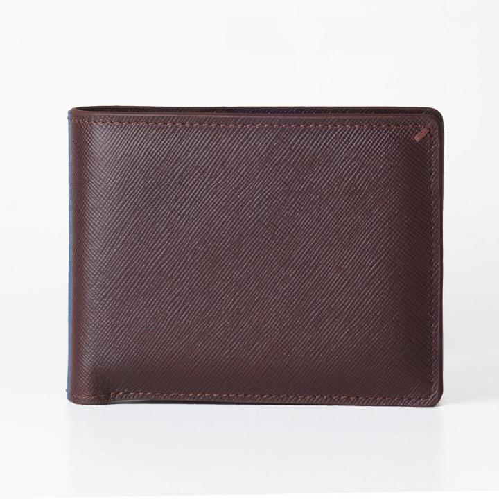 [3000mAh]Muran 二つ折り財布モバイルバッテリー ダークブラウン・サフィアーノ_0