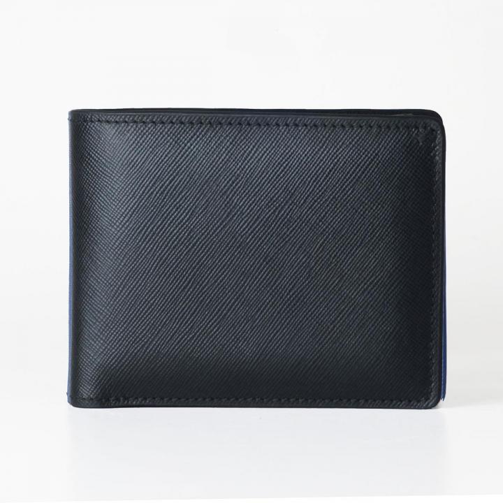[3000mAh]Muran 二つ折り財布モバイルバッテリー ブラック・サフィアーノ_0