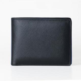 [3000mAh]Muran 二つ折り財布モバイルバッテリー ブラック・サフィアーノ