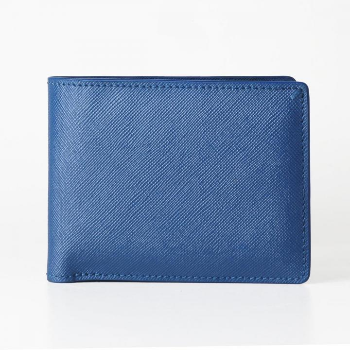 [3000mAh]Muran 二つ折り財布モバイルバッテリー ブルー・サフィアーノ_0