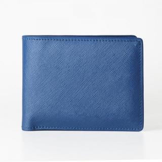 [3000mAh]Muran 二つ折り財布モバイルバッテリー ブルー・サフィアーノ