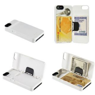 【iPhone SE/5s/5ケース】カード収納・マネークリップ機能搭載『iLID Wallet Case  iPhone SE/5s/5』 ホワイト_1