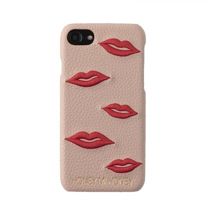 iPhone8/7/6s/6 ケース HONEY MI HONEY LIP IPHONE CASE 刺繍背面ケース ベージュ iPhone 8/7/6s/6【3月下旬】_0