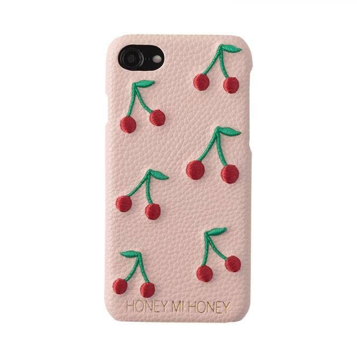 iPhone8/7/6s/6 ケース HONEY MI HONEY CHERRY IPHONECASE 刺繍背面ケース ベージュ iPhone 8/7/6s/6_0