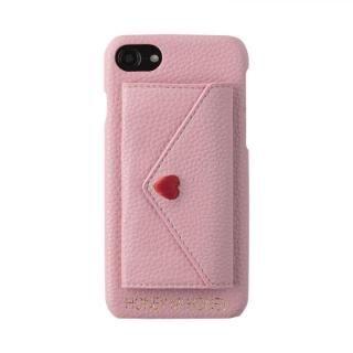 iPhone8/7/6s/6 ケース HONEY MI HONEY LETTER IPHONECASE ポケット付背面ケース ピンク iPhone 8/7/6s/6