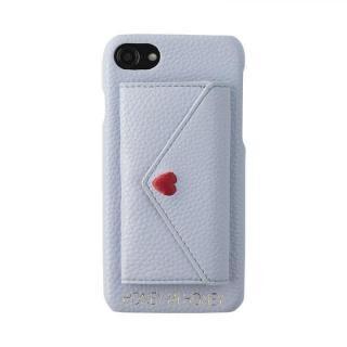 iPhone8/7/6s/6 ケース HONEY MI HONEY LETTER IPHONECASE ポケット付背面ケース ブルー iPhone 8/7/6s/6【7月下旬】