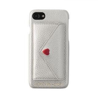 iPhone8/7/6s/6 ケース HONEY MI HONEY LETTER IPHONECASE ポケット付背面ケース シルバー iPhone 8/7/6s/6